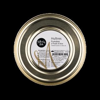 燻製した牡蠣のオリーブオイル漬け