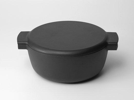 ovject 鋳物ほうろう両手鍋深型[23cm] マットブラック