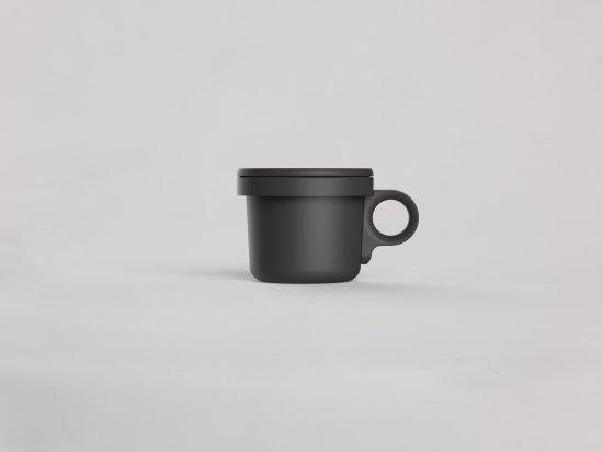ovject ほうろうフックマグ[240ml]ブラックブラック