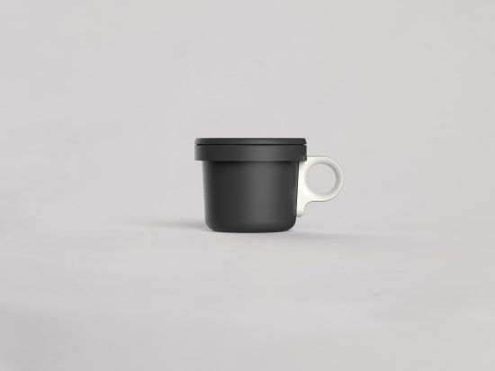 ovject ほうろうフックマグ[240ml]ブラックホワイト