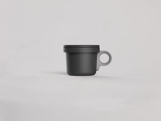 ovject ほうろうフックマグ[240ml]ブラックグレー