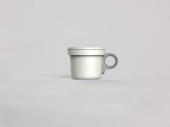 ovject ほうろうフックマグ[240ml]ホワイトグレー