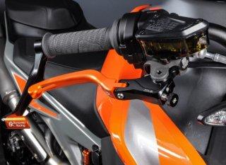 Aluminium levers kit (brake+clutch) KTM 790/890 Duke 18/20 ORANGE