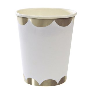 【Meri Meri メリメリ】ペーパーカップ シルバースカロップ 8個入り Toot Sweet Silver Scallop Party Cup