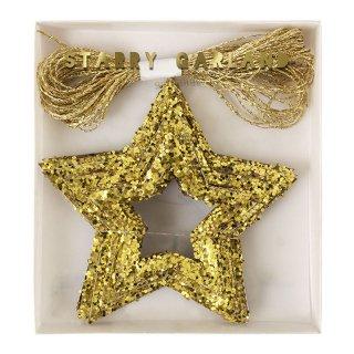 【Meri Meri メリメリ】グリッタースターガーランド Chunky Glitter Stars Mini Garland