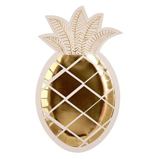 【Meri Meri メリメリ】ペーパープレート パイナップル 8枚入り Pineapple Plate