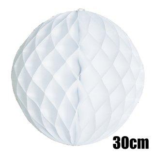 【OUTLET アウトレット】ハニカムボール ホワイト 30cm【2個までメール便可】