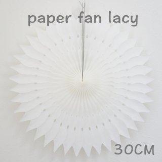 ペーパーファン レーシー ホワイト 30cm 【4個までメール便可】