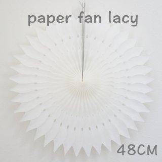 ペーパーファン レーシー ホワイト 48cm 【4個までメール便可】