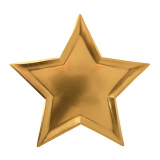 【Meri Meri メリメリ】ゴールドスターホイルプレート|STAR GOLD FOIL PLATE