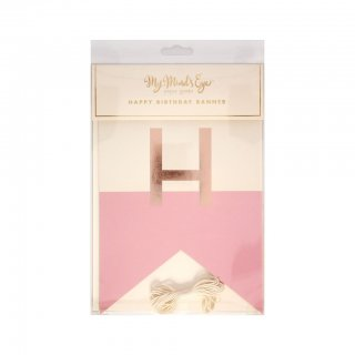 【My Mind's Eye マイマインズアイ】ハッピーバースデーガーランド(ピンク)|Hooray Happy  Birthday Banner (Pink)【メール便可】