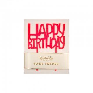 【My Mind's Eye マイマインズアイ】バースデーケーキトッパー ネオン|Neon Happy Birthday  Cake Topper【2個までメール便可】