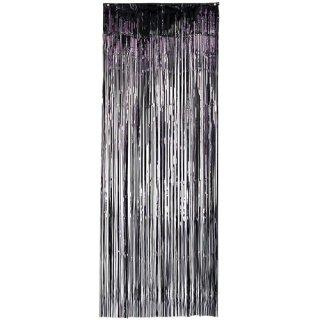 【amscan アムスキャン】メタリックホイルドアカーテン ブラック
