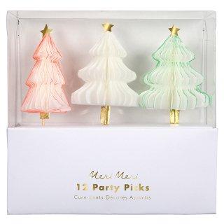 【SALEセール】【Meri Meri メリメリ】クリスマスツリーケーキトッパー|Honeycomb Christmas Tree Party Picks