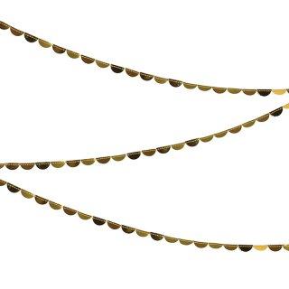 ゴールドスカロップミニガーランド|Gold Scolloped Spool Garland