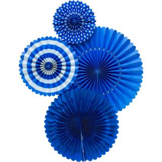 【My Mind's Eye マイマインズアイ】ベーシックパーティーファン4枚セット|BLUE ブルー