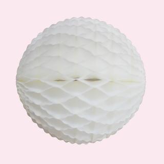 フリルハニカムボール ホワイト 15cm 【4個までメール便可】