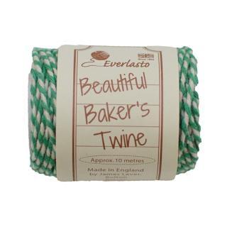 【Beautiful Baker's Twine】  コットン紐(よりひも・コード) エメラルド 10m