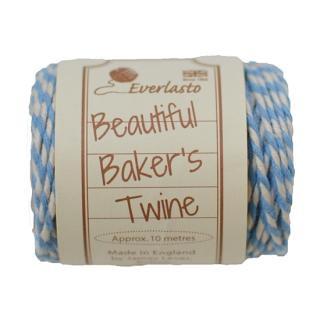 【Beautiful Baker's Twine】  コットン紐(よりひも・コード) スカイブルー 10m