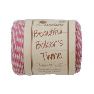 【Beautiful Baker's Twine】 コットン紐(よりひも・コード) ローズ 10m