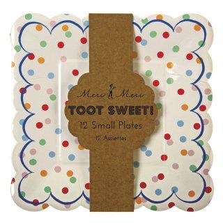 【Meri Meri メリメリ】ペーパープレート カラフルドット 12枚入り Toot Sweet Spotty Small Plates