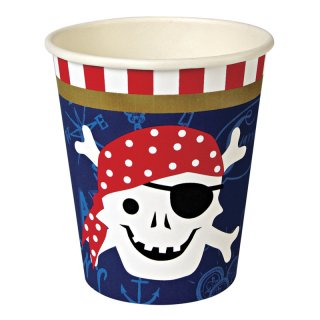 【Meri Meri メリメリ】ペーパーカップ パイレーツ海賊 12個入り Ahoy There Pirate Cup