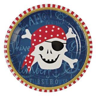 【Meri Meri メリメリ】ペーパープレート パイレーツ海賊 12枚入り Ahoy There Pirate Plate