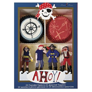 【Meri Meri メリメリ】カップケーキキット パイレーツ海賊 Ahoy There Pirate Cupcake Kit