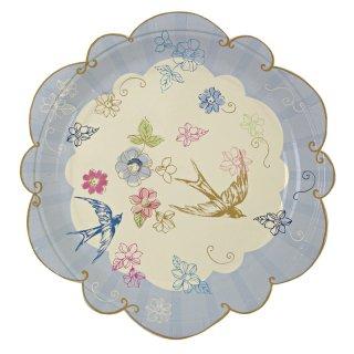【Meri Meri メリメリ】ペーパープレート ブルー スモール 12枚入り Love in the Afternoon Small Plate