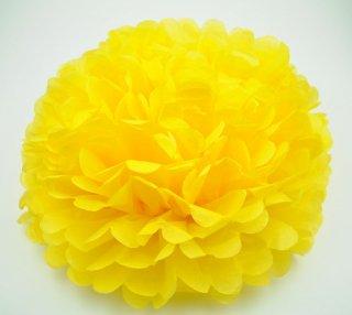 フラワーポム イエロー 黄色 35cm 【2個までメール便可】
