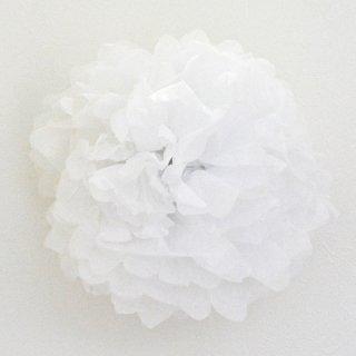 フラワーポム ホワイト 白色 35cm 【2個までメール便可】