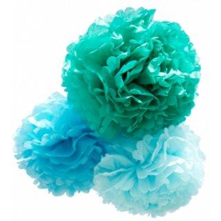 【ENGEL】フラワーポム3個セット ブルー Pom Small Blue