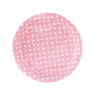 【BCC】ペーパープレート ドット ピンク PAPER PLATE POLKA DOTS PINK