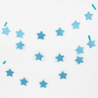 【My Little Day マイリトルデー】スターガーランド グリッター ブルー 【2個までメール便可】