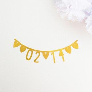 【A Little Lovely Company リトルラブリーカンパニー】DIYレター ガーランド シンボル&数字バナー ゴールド