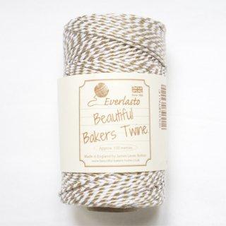 【Beautiful Baker's Twine】 コットン紐(よりひも・コード)メタリックゴールド 100m