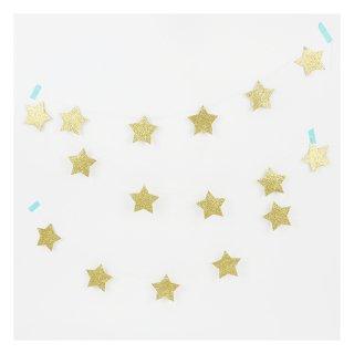 【Meri Meri メリメリ】ペーパーナプキン ゴールドスター 16枚入り 【2個までメール便可】