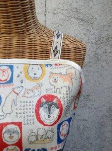 日本犬大集合エプロン ホワイト