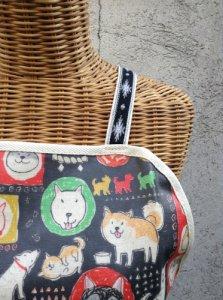日本犬大集合エプロン ブラック