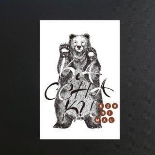 EZONIMAL(エゾニマル)ポストカード| ヒグマ