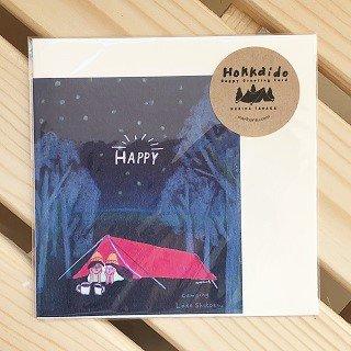 北海道のアウトドアカード / HAPPY