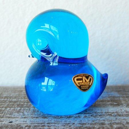 青いガラスの小鳥 / FM konstglas / Sweden