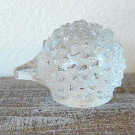 クリアガラスのハリネズミ / Pukeberg / Sweden