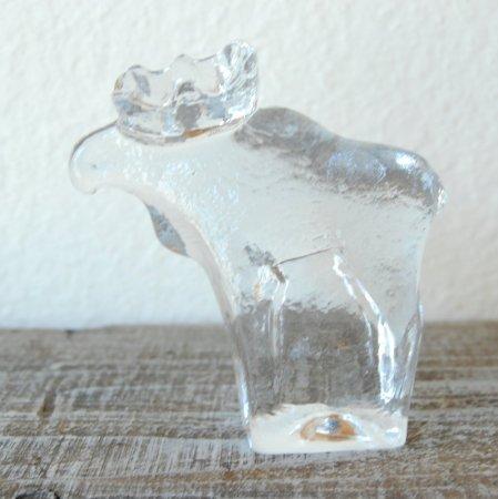 クリアガラスのヘラジカ / Goebel / Germany