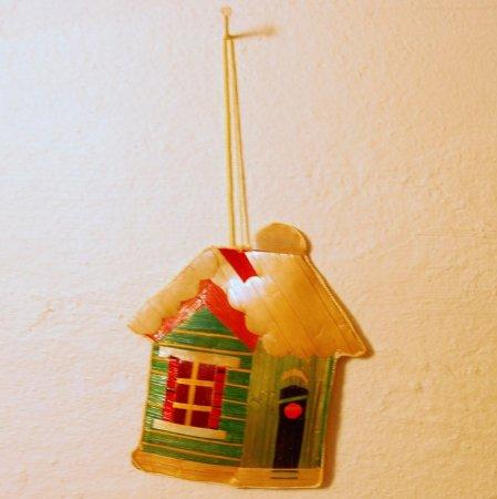 緑の家 / 麦わらクリスマスオーナメント / ハンドメイド / Sweden
