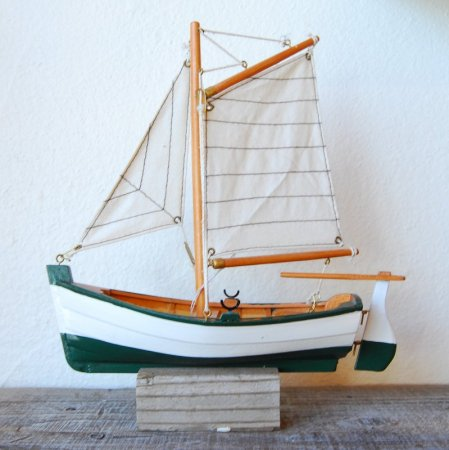Wooden Ship / green / ハンドメイド  / Sweden