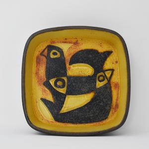 Royal copenhagen / Baca / 黄色いトリのトレー11� / Johanne Gerber / DENMARK