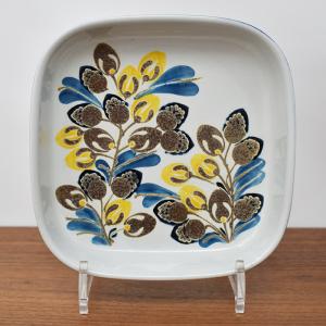 Royal Copenhagen / 黄色と青の植物のトレー17� / EIIen Malmar / DENMARK