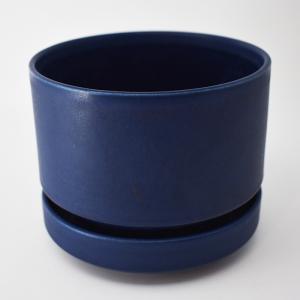 ARABIA FINLAND / 青いフラワーポット13.5cm / Richard Lindh / Finland