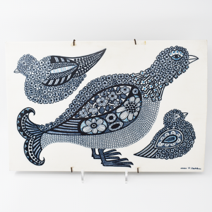 ARABIA / トリの陶板 / 45×30cm / Raija Uosikkinen / FINLAND